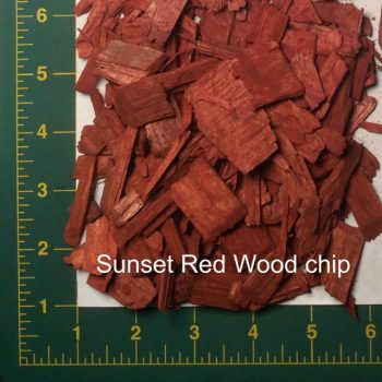 Sunset Red Wood Chips